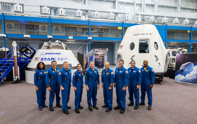 NASA Introduces Nine Astronauts for First Commercial Flights