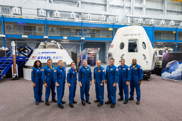 NASA Introduces 9 Astronauts for First Commercial Flights