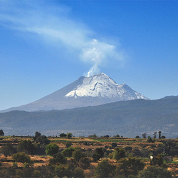 Volcano Erupts within View of Mexico City