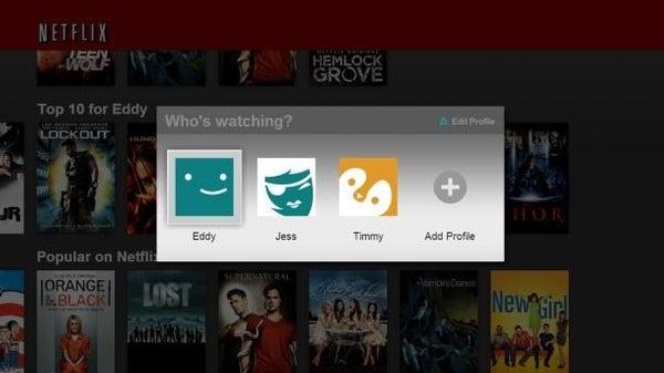 Netflix tweak lets families split up viewing profiles