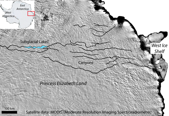 The World's Grandest Canyon May Be Hidden beneath Antarctica