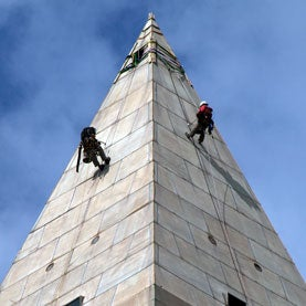 Rappelling on the Washington Monument