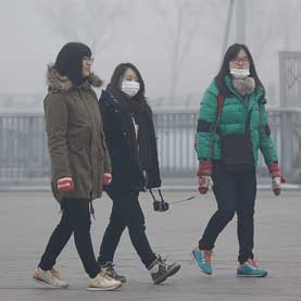 women wearing face masks in china