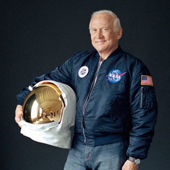 The Latest Buzz: Aldrin Flies to the Moon Again