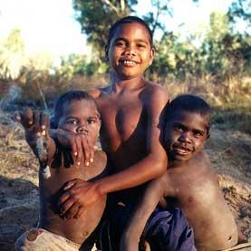 Kids at an aboriginal fest