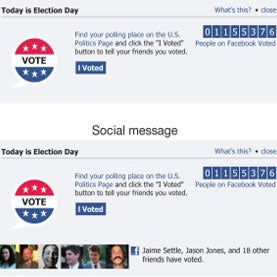 voting facebook message