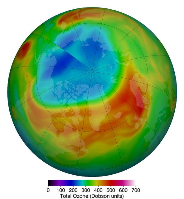 North Pole's Largest-ever Ozone Hole Finally Closes