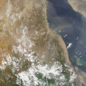 satellite image of Sudan flood