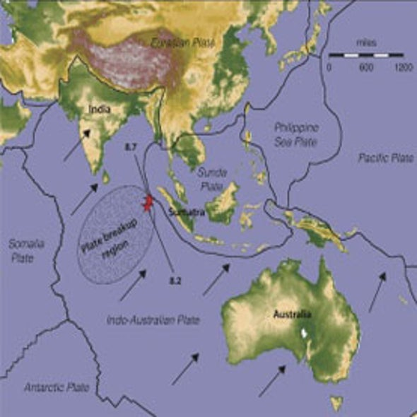 Unusual Indian Ocean Earthquakes Hint at Tectonic Breakup