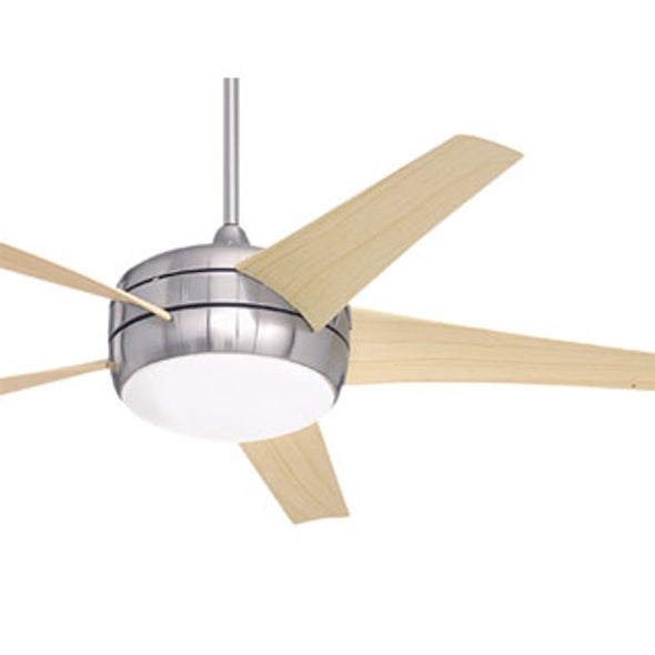 Why do wind turbines have three narrow blades, but ceiling fans have five wide blades?