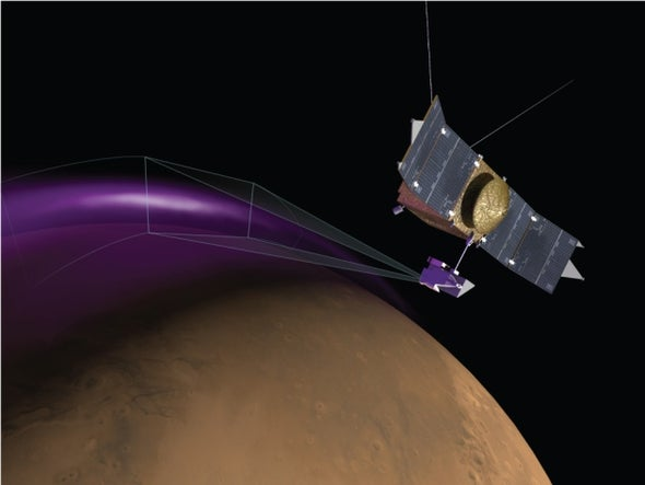 Mystery Dust Cloud and Aurora Spotted on Mars