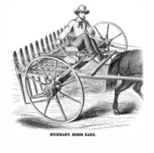 HORSE RAKE, WITH SEAT: