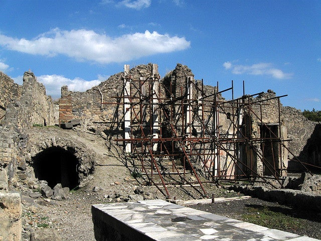 Rescue of Decaying Pompeii Inspired by Sister City
