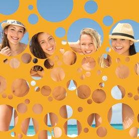 Women on the beach.