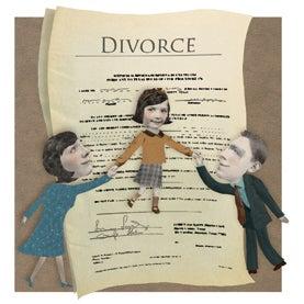 divorce, child between parents, d