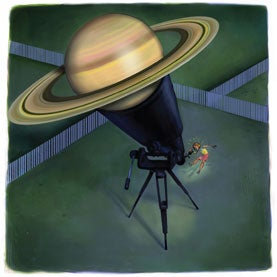 Telescope with Saturn in it