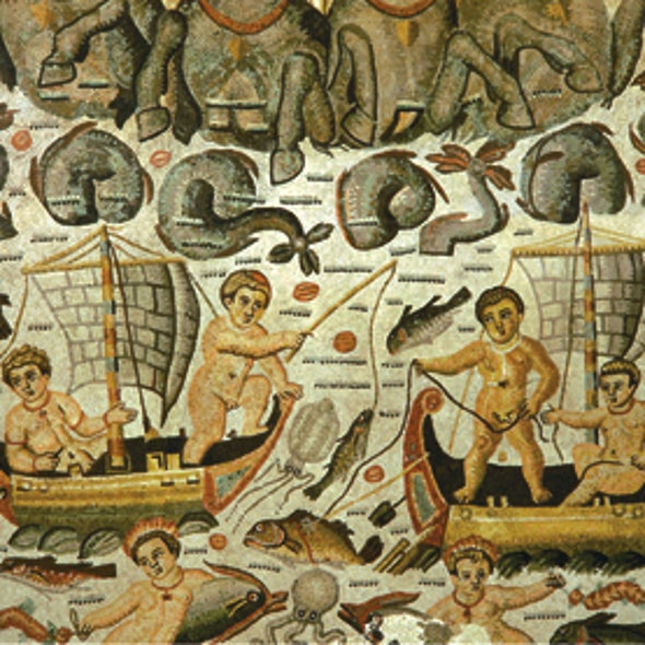 Roman Mosaics Help Scientist Track Endangered Fish