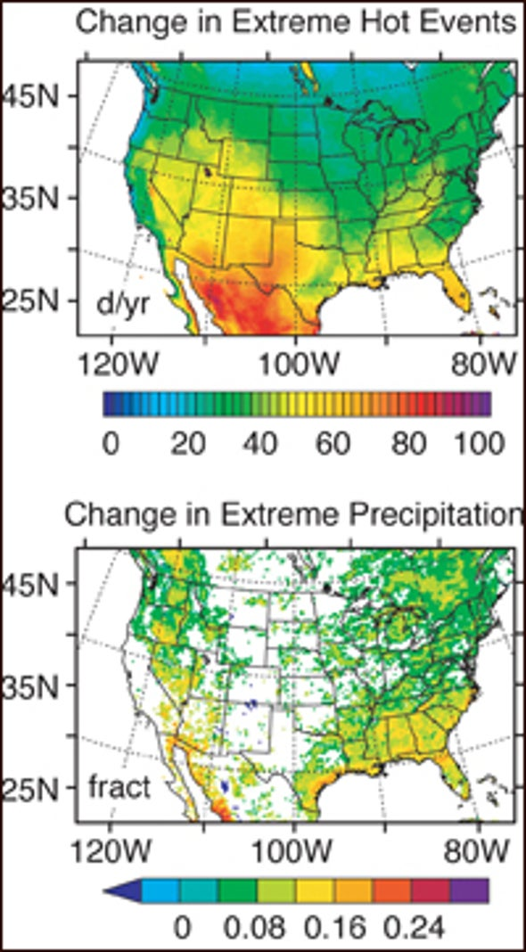 Climate Model Predicts Extreme Changes for U.S.