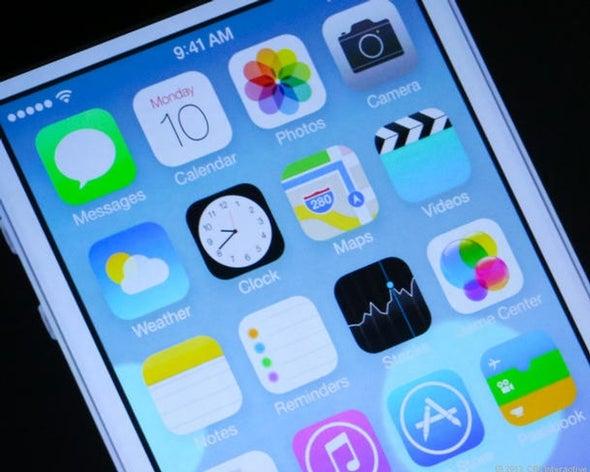 iOS 7 beta 4 refines design of call buttons