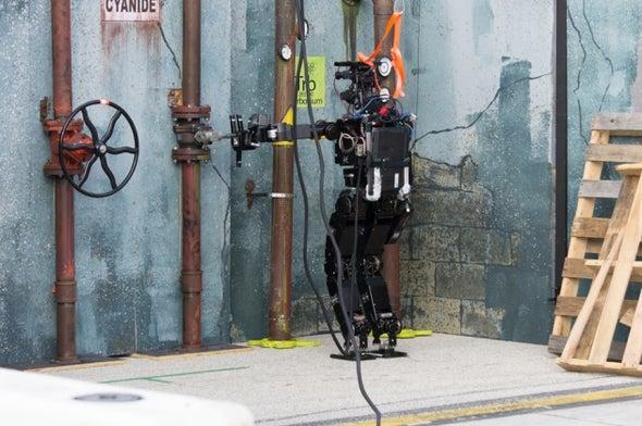 Robot Rescuers Battle It Out