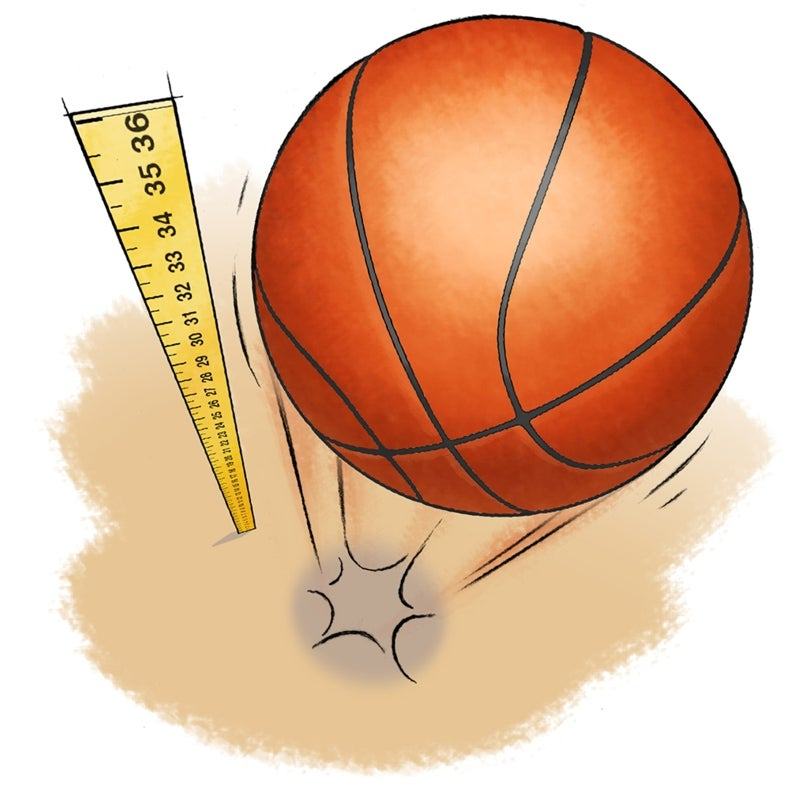 Surface Science: Where Does a Basketball Bounce Best?