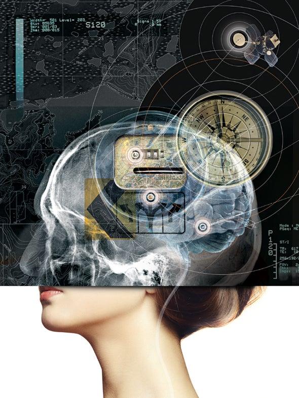 The Brain's GPS Tells You Where You Are and Where You've Come from