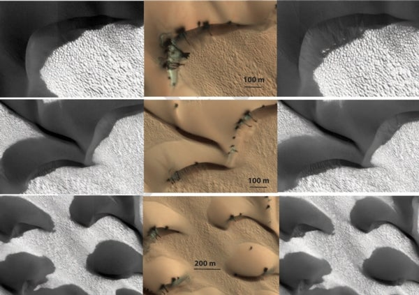 Mars orbiter spots shifty activity on the Red Planet's surface