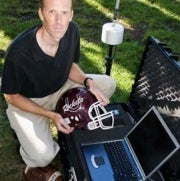 Sensor-Rigged Helmet Gives Football Players a Heads Up on Concussions