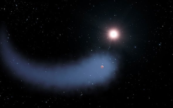 Weird World: Evaporating Exoplanet's Orbit Is Askew