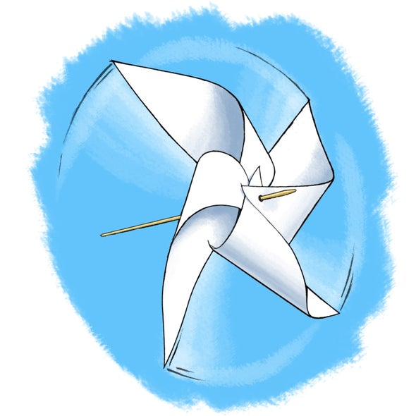 Strong Wind Science: The Power of a Pinwheel