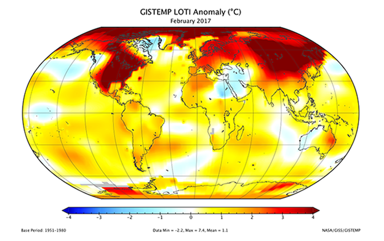 Surprising Scientists, 2017 Could Be among Hottest on Record