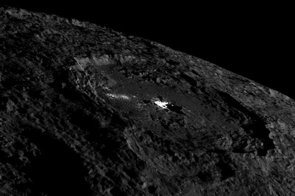 Dawn Spies More Signs of Ice-Spewing Volcanoes on Ceres