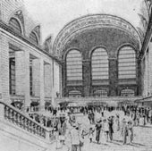 PROSPECTIVE VIEW OF THE EXPRESS CONCOURSE, 1912: