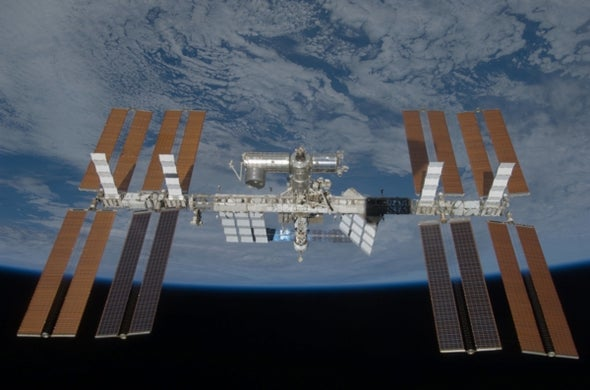 Space station's solar boost