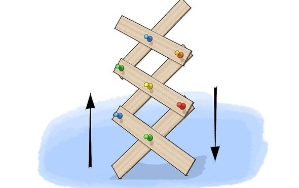 建立一个纸板剪式升降机
