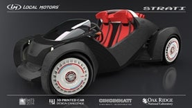 car built with 3-d printer