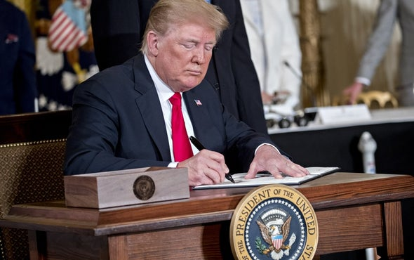 """Trump Orders """"Space Force,"""" Signs Space-Traffic Policy"""