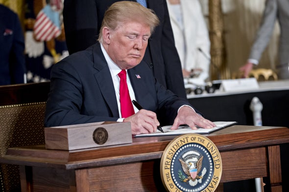 "Trump Orders ""Space Force,"" Signs Space-Traffic Policy"