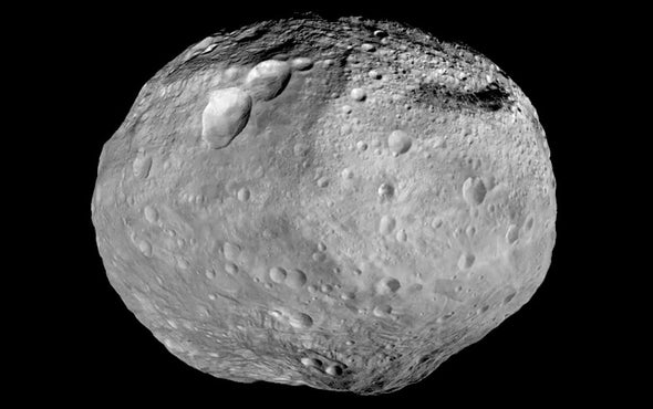 Giant Asteroid Vesta May Have Buried Ice