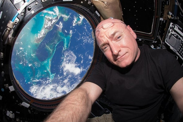 A Head Full of Fluid and Burning Eyes: NASA Astronaut Talks about His Year Living in Space