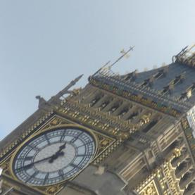 Top of Big Ben at a slant