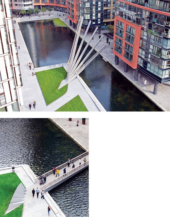 This Bridge Opens and Closes Like a Japanese Folding Fan