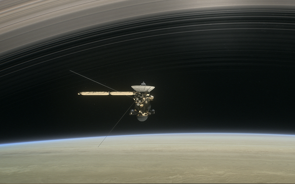 Cassini's Death Dive into Saturn Reveals Weird Ring