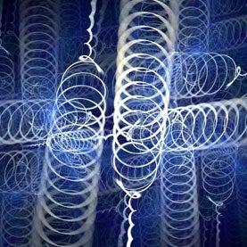 twisting, sprialing light beams