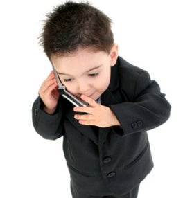 little boy on cell phone brain
