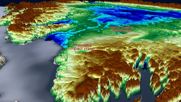 NASA Spots Another Possible Impact Crater Buried Under Greenland Ice