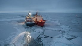 Ship Freezes Itself in Arctic Ice to Study Climate Change