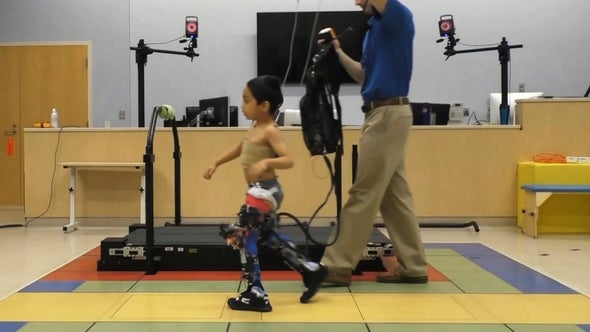 Robotic Exoskeletons Show Promise As Tool to Help Kids with Cerebral Palsy Walk Easier