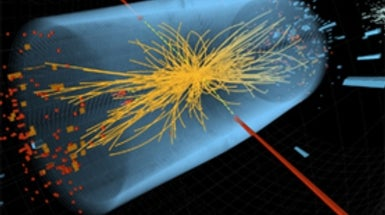 Could the Large Hadron Collider Discover the Particle Underlying Both Mass and Cosmic Inflation?