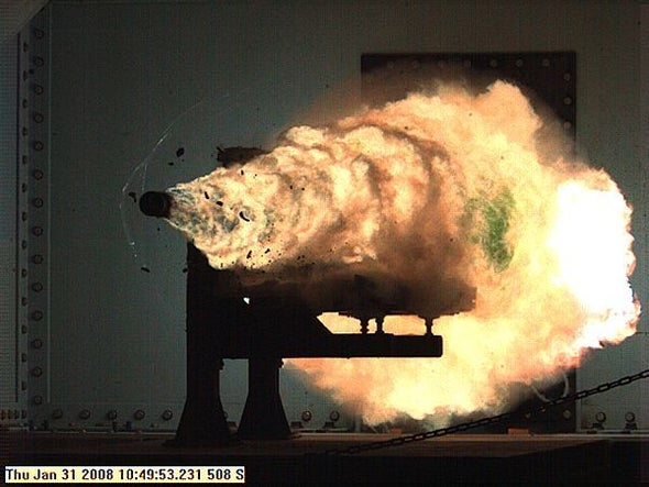 Futuristic Navy Railgun with 220-mile Range Closer to Reality